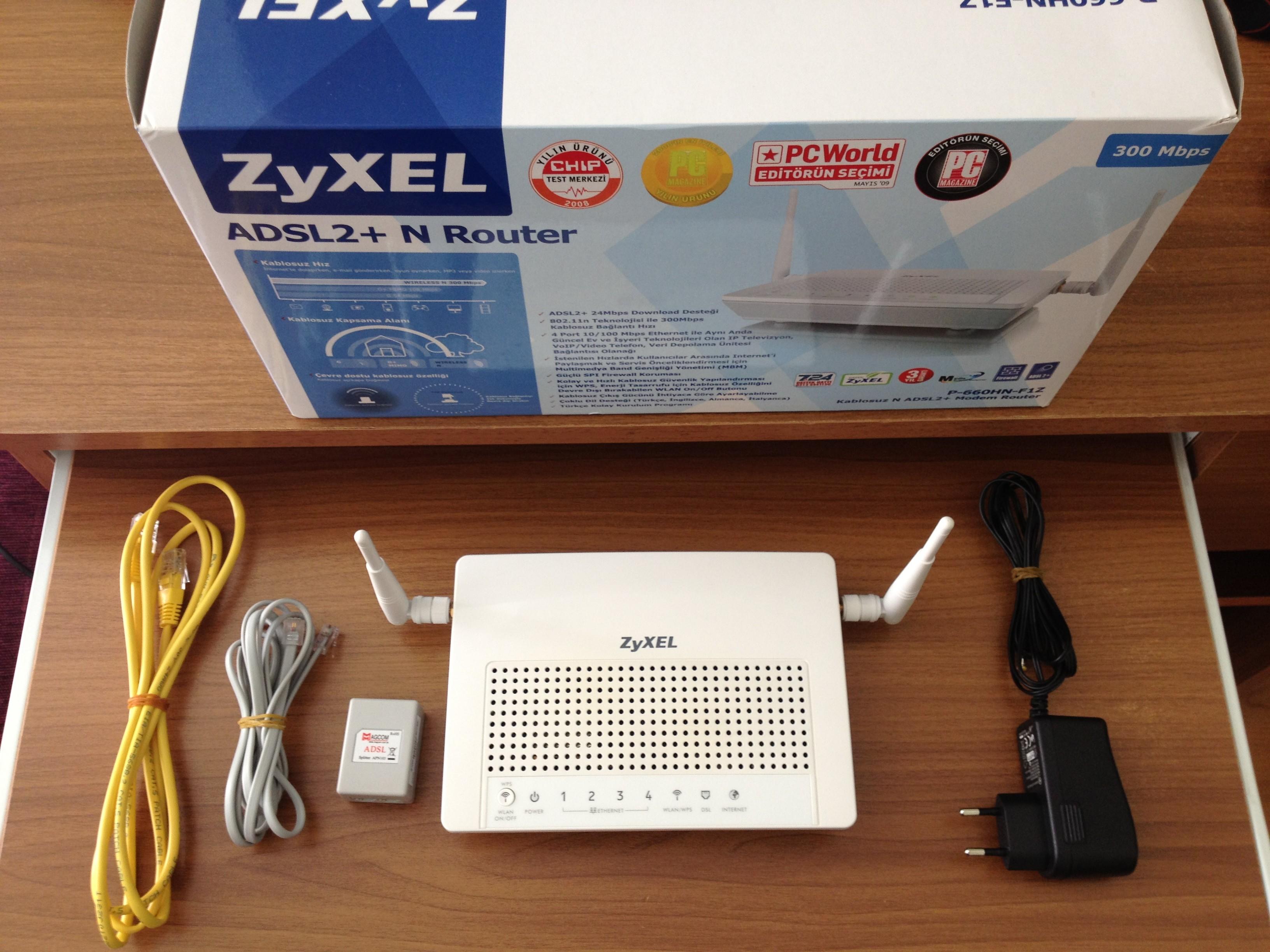 Zyxel P660HN-F1Z 4 Port Kablosuz Modem-İndirim