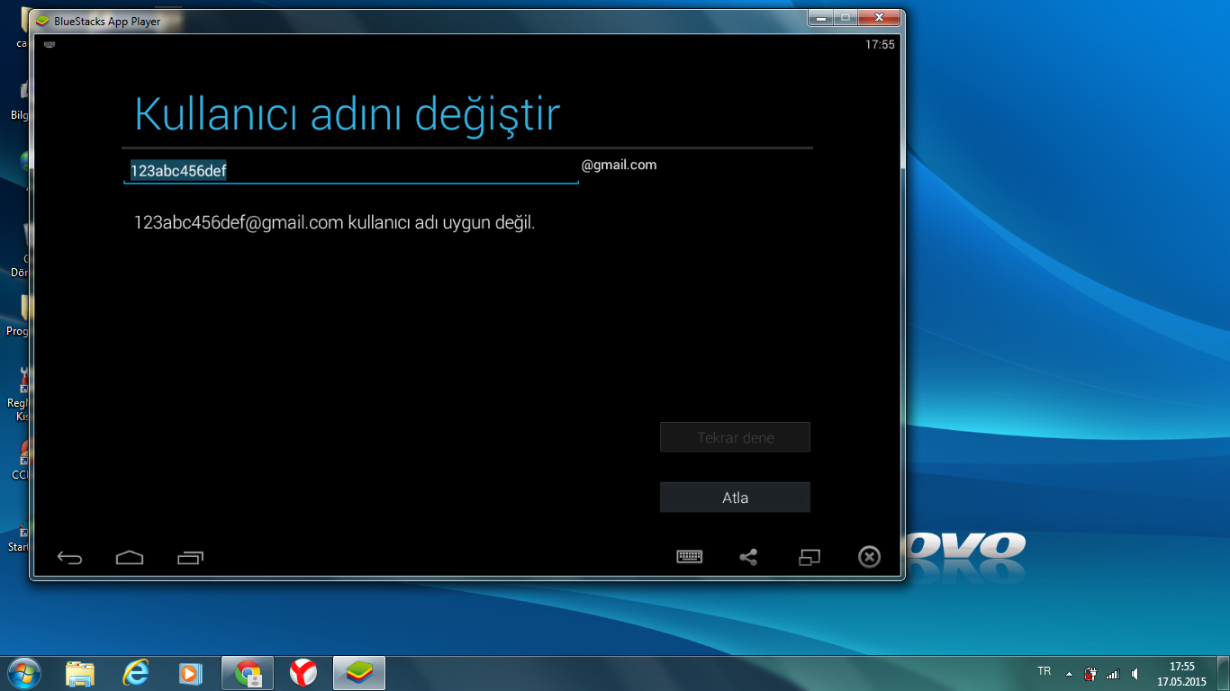 bluestacks app indirme hatası