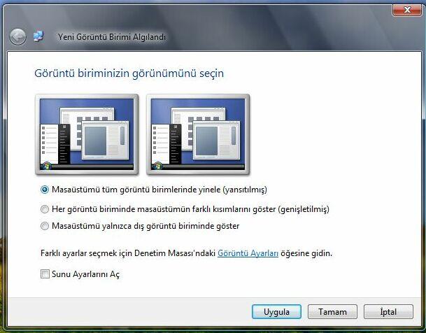 Bir görüntüyü çeşitli şekillerde bir dizüstü bilgisayardan TVye aktarma