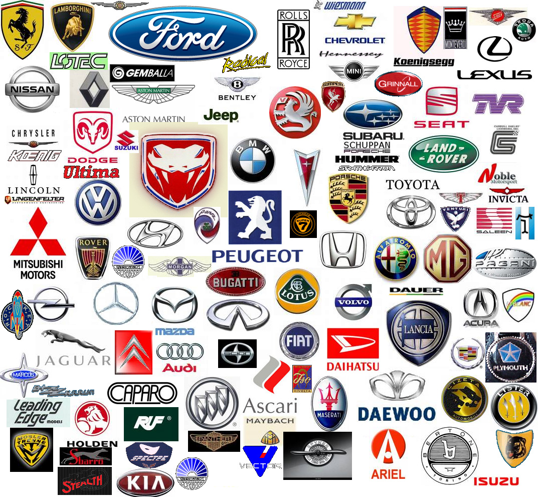 логотипы всех автомобилей с названиями фото