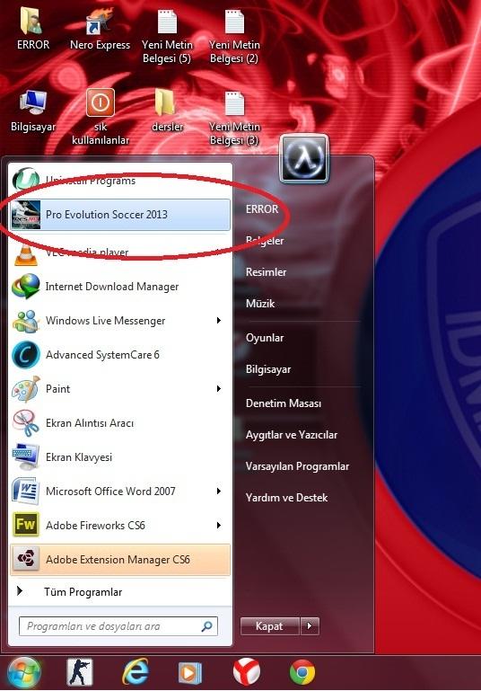 PES 2013 (GPU:VRAM 128 MB) HATASI ÇÖZÜLDÜ %100 ÇÖZÜM !!! » Sayfa 1 - 1
