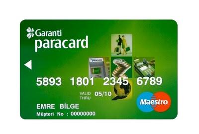 Garanti Paracard Musteri No