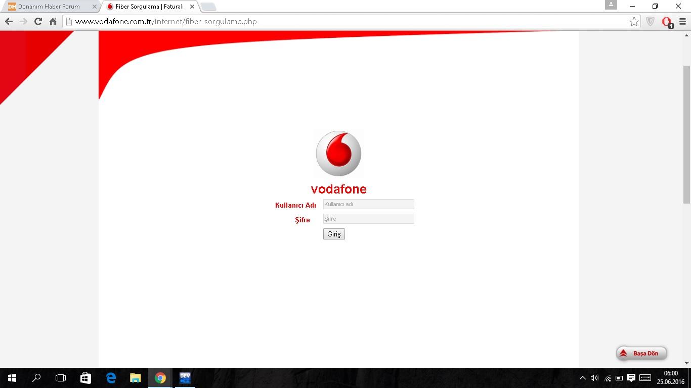 Vodafone Fiber Altyapı Sorgu Ekranı Sayfa 1 1