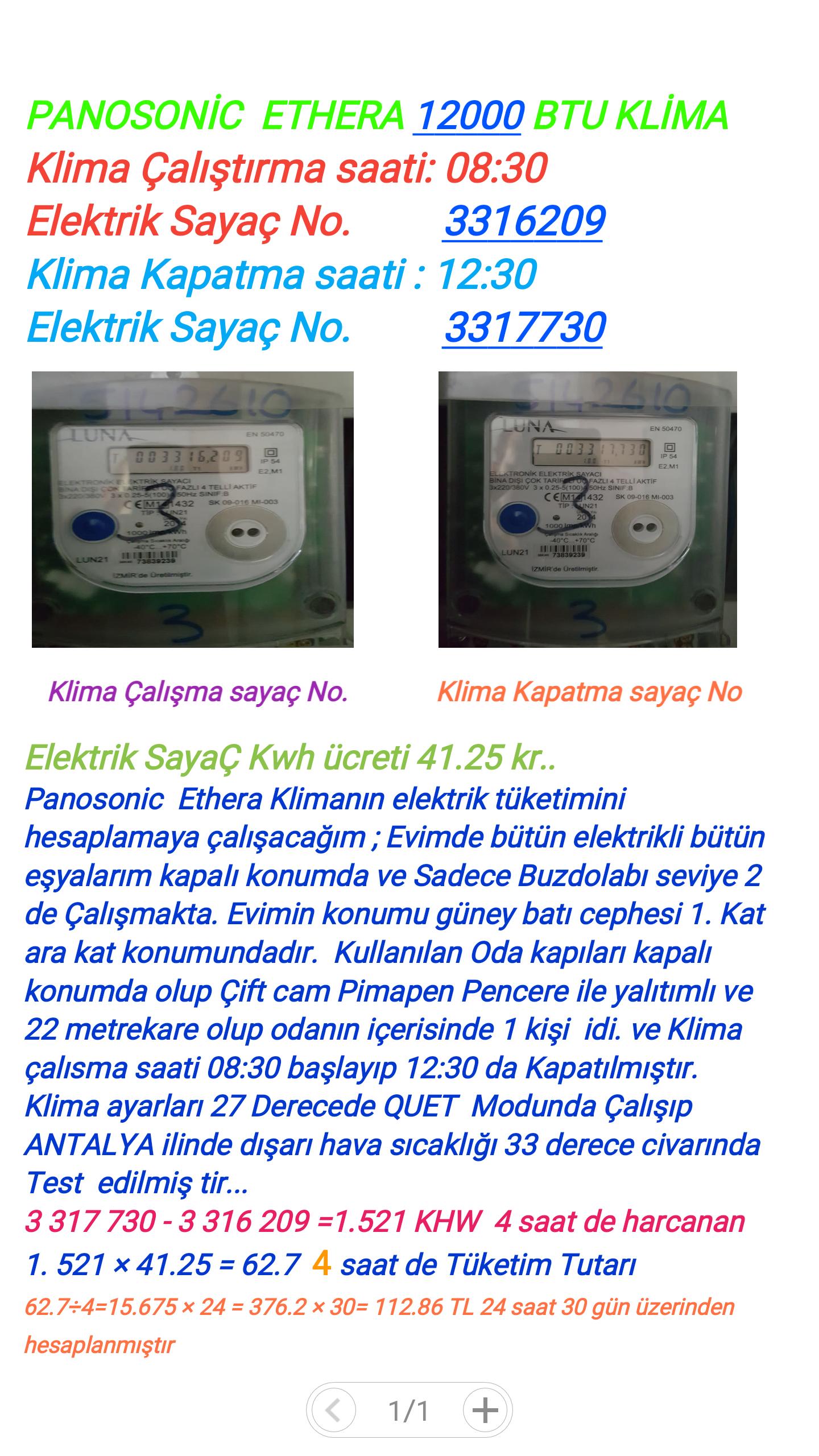 klima ne kadar elektrik tüketir? » sayfa 2 - 2