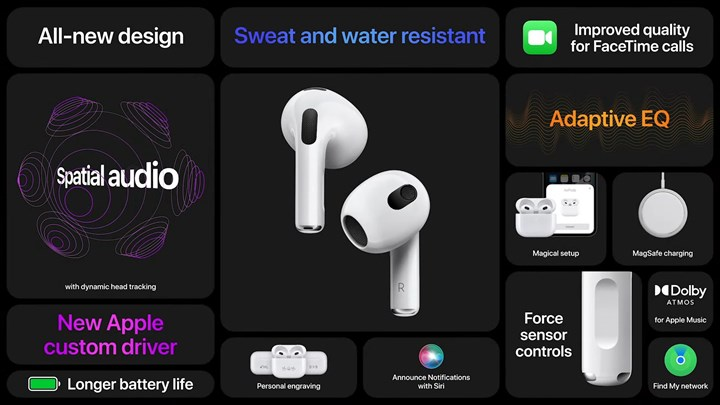 airpods 3 özellikleri