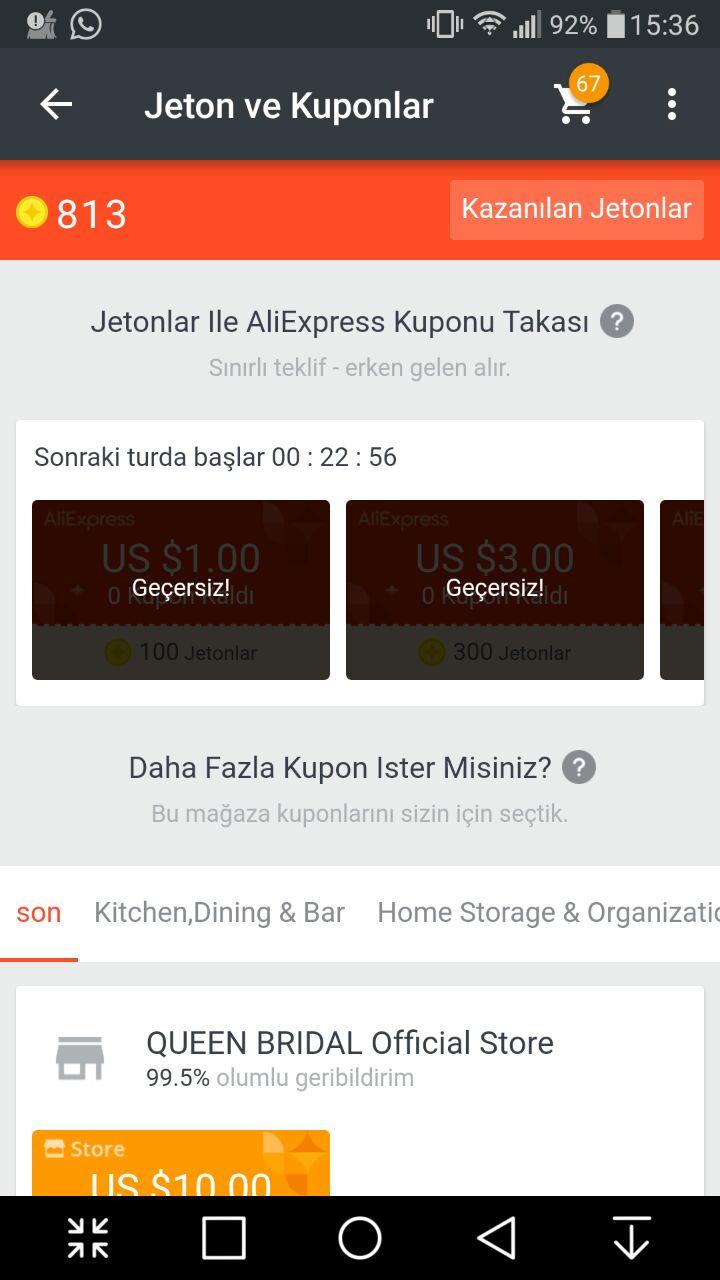 Aliexpress de Neredeyse ücretsiz bölümünde bölümler - nasıl satın alınır