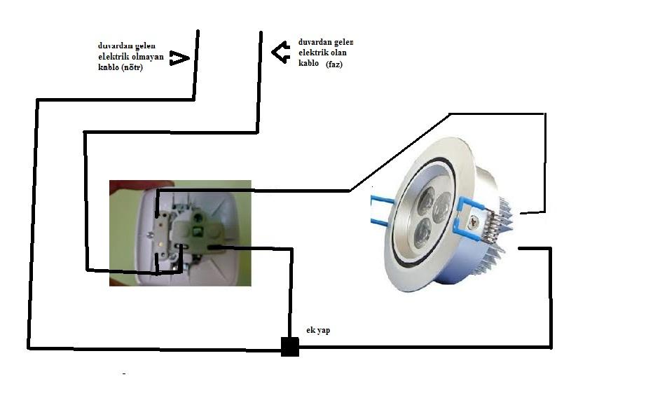 Arka aydınlatmalı bir anahtarlı LED lamba: nasıl bağlanır