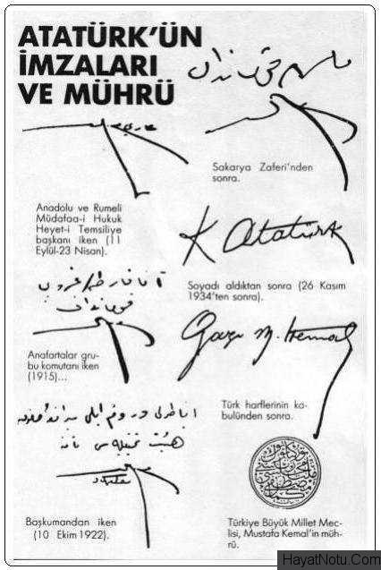 Atatürkün Imzası Ve Imzadaki Ayrıntı Sayfa 1 1
