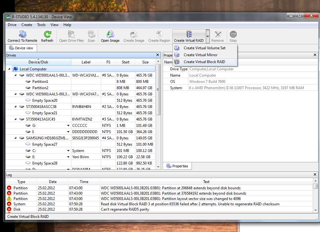 RAID Disk veri kurtarma (RESİMLİ ANLATIM) 1