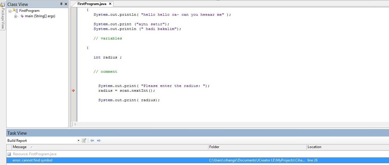 Error Cannot Find Symbol Java Beginner
