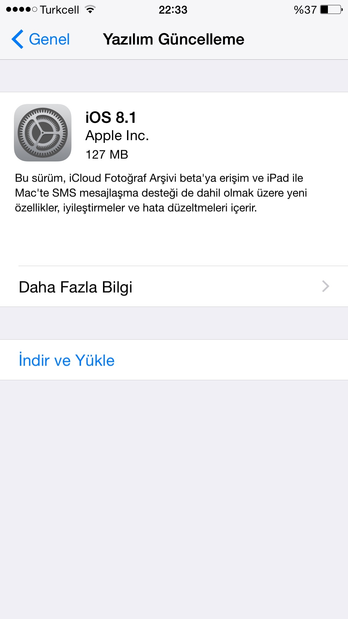 iphone 6 yazılım güncelleme yapamıyorum