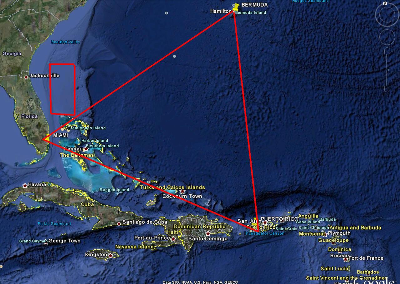 Bermuda Üçgeni. Atlas Okyanusunun Altındaki Piramit