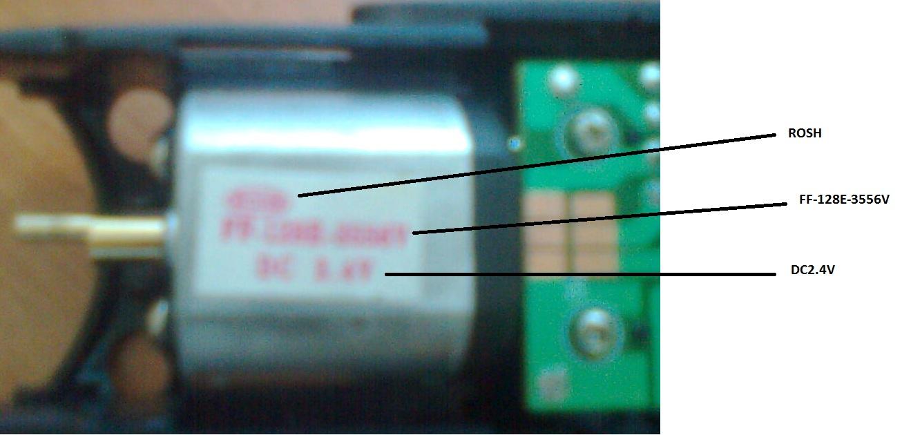 2.4 voltluk bir dc motor 5voltluk bir adaptörle çalışmıyor