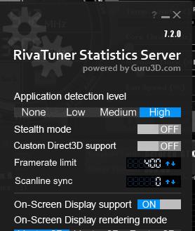 RTSS Scanline Sync/RTSS maximum FPS yükseltme/Düşük