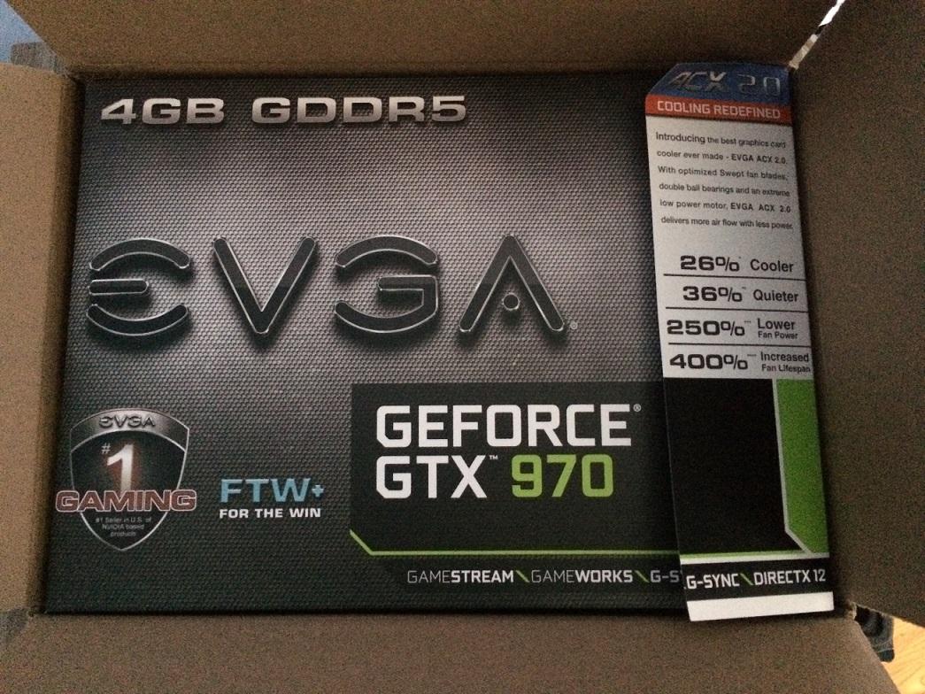 evga geforce gtx 970 4gb ftw gaming acx 20