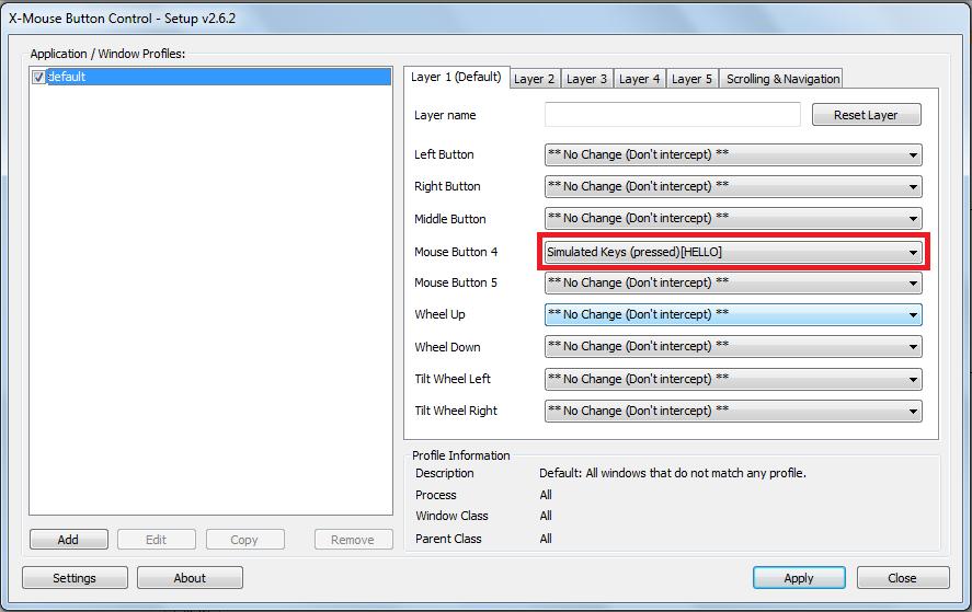 Выбор места хранения настроек x-mouse button control