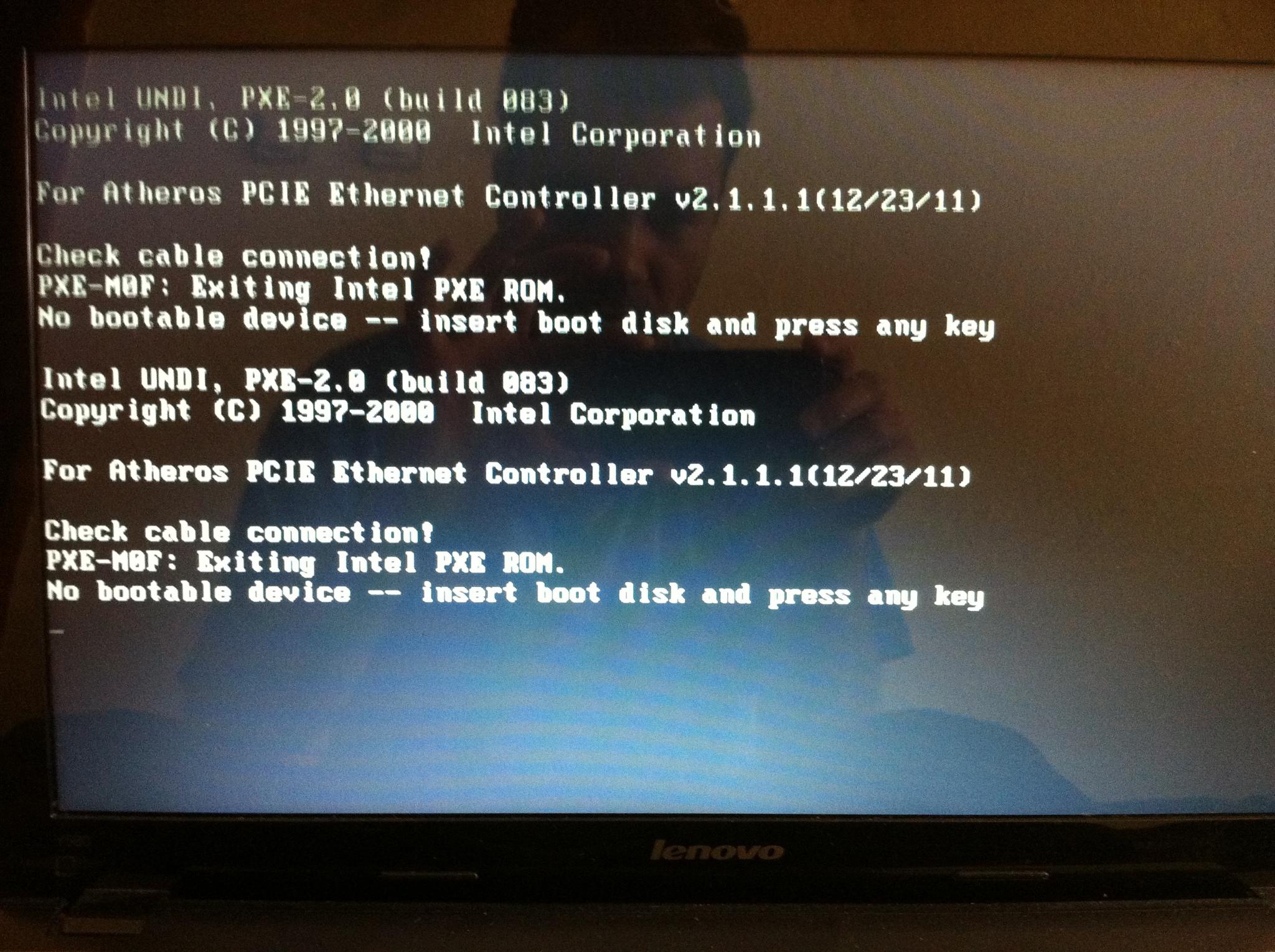 No Bootable Device ? » Sayfa 1 - 1