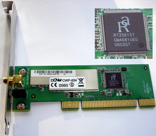 Nexxt wireless pci adapter