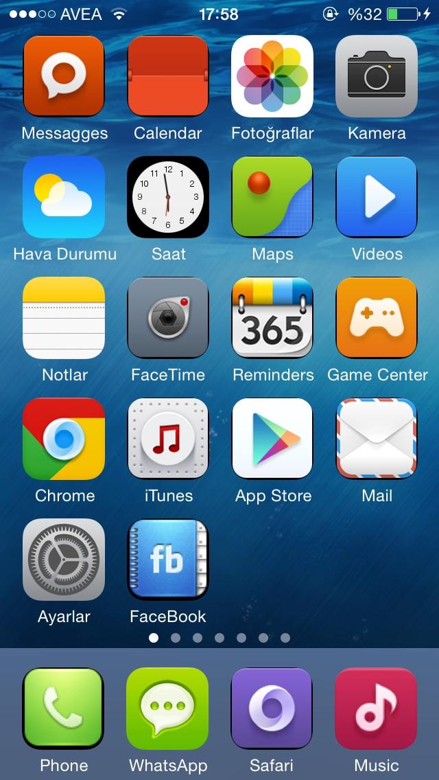 iphone 7 Plus jailbreaksiz tema yükleme