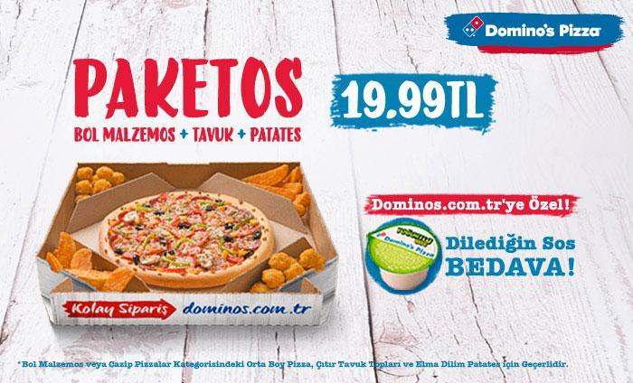 yemek: dominos pizza kalori değerleri [28]