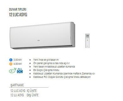 Fujitsu High End S 252 Per Dc İnverter Klima Asyg12lu Aldım
