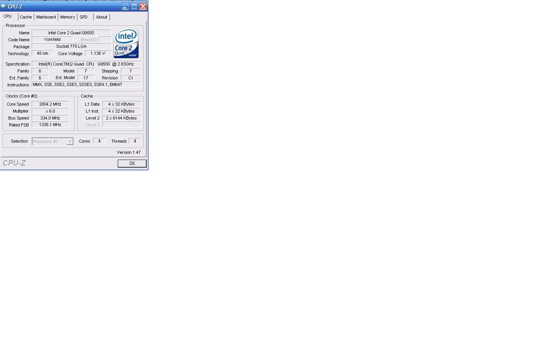 Ntel Core 2 Quad Q9550 De Hz Sorunu Sayfa 1 Q 9550 Sorunum Ilemcinin Dk Hzda Almasbus Speed334 Multiplier6 20039 Mhz Ama Bazen Arpan Kendi 85 A Ekiyor Ve O Zaman 2833