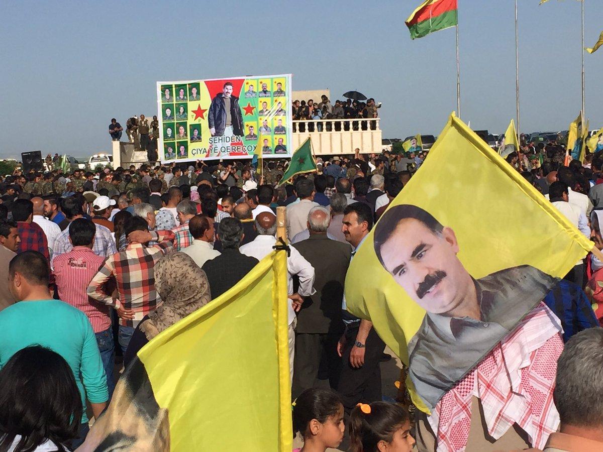 ABDli askerler YPGyle birlikte sınır nöbetinde 38