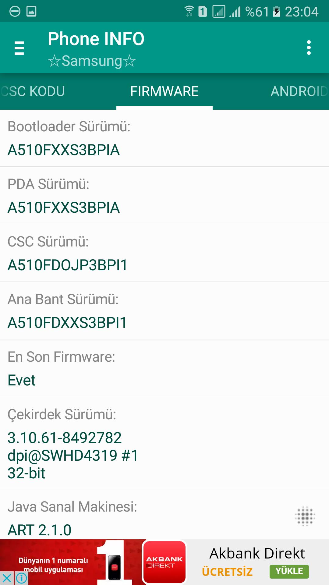 SAMSUNG GALAXY A5 2016 (SM-A510F) [ANA KONU]