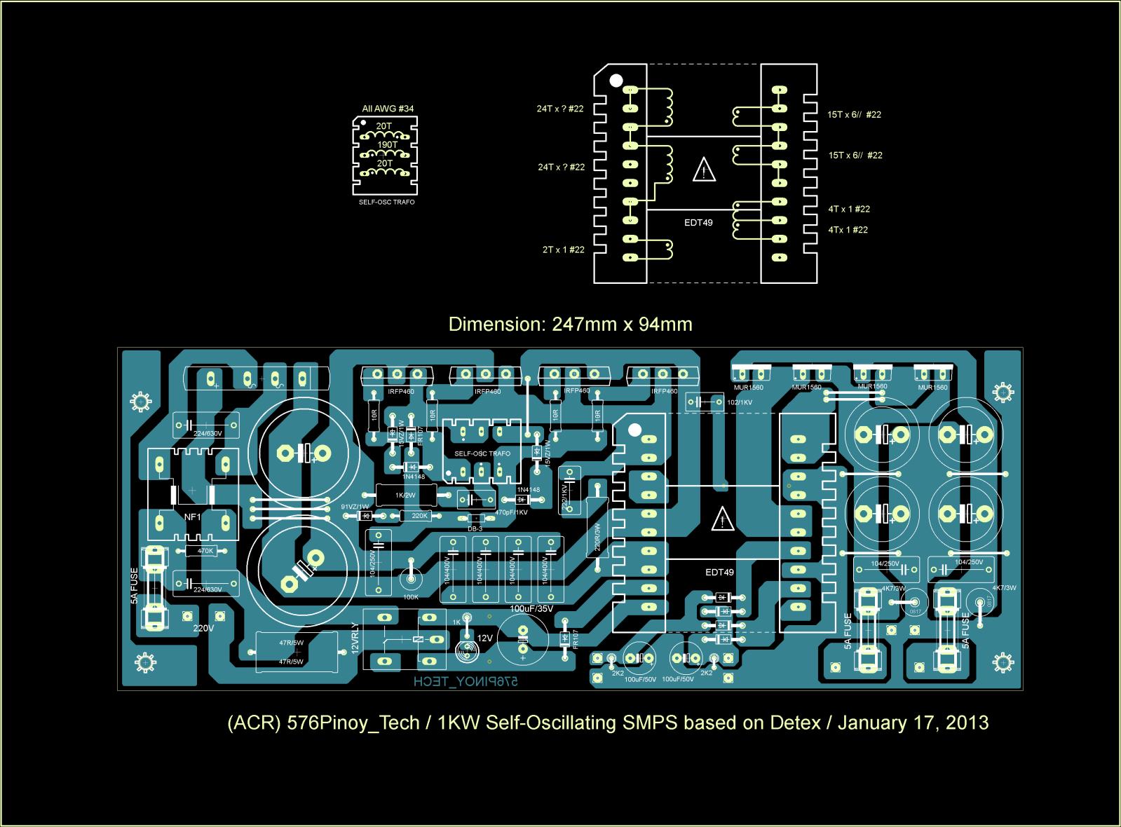 1000w Smps Besleme Devresi Sayfa 1 0 Detex Wiring Diagrams Devre Pinoy Tech Isimli Ahsn Deneyip Altrdgn Iddia Ettii Bir Henz Denemedim