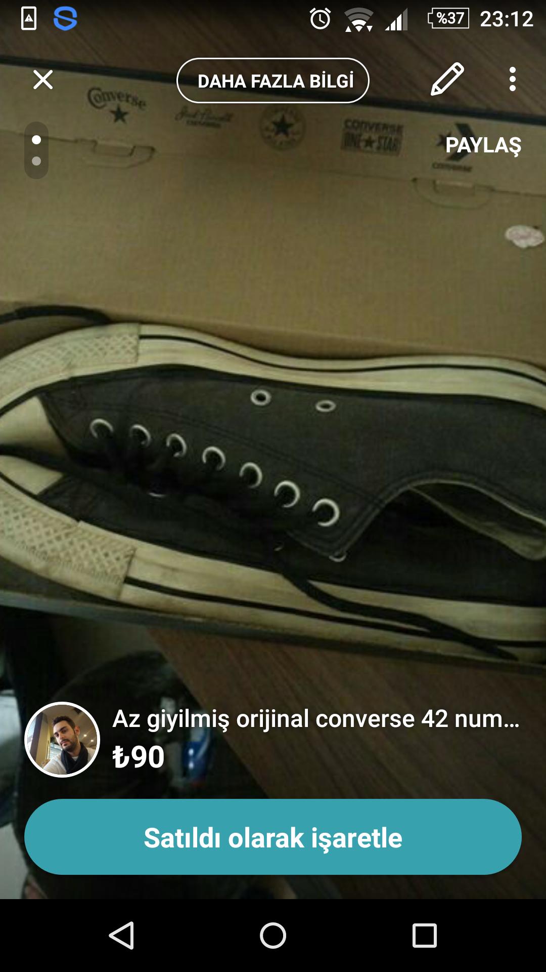 5fbb40d084f70a Orjinal converse 42 numara (az giyilmiş) » Sayfa 1 - 0