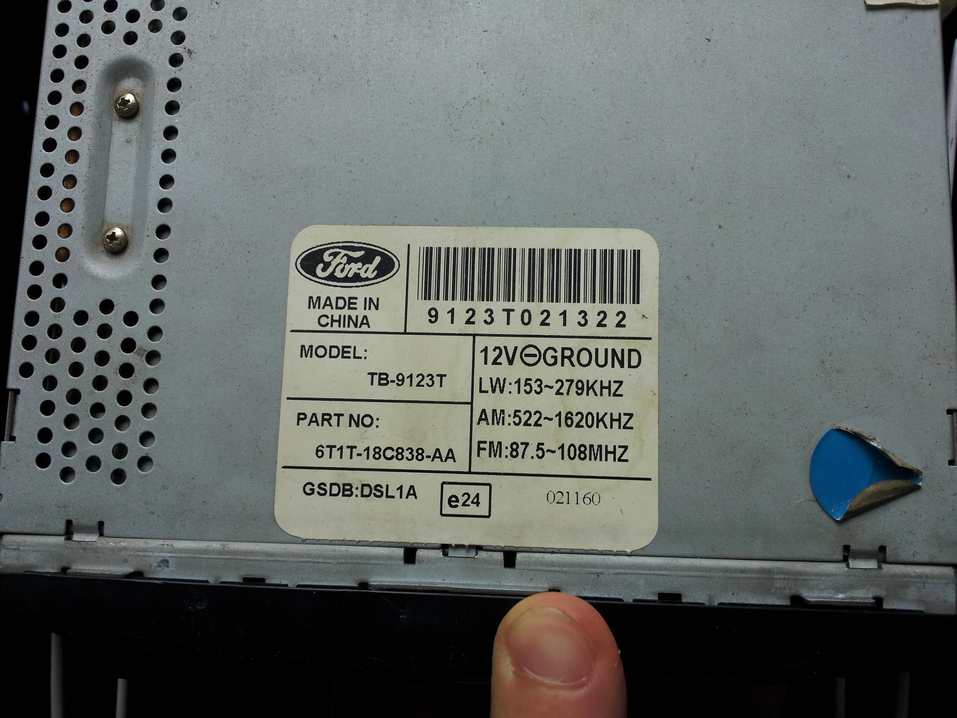 Ford Teyp Kodu 187 Sayfa 1 3