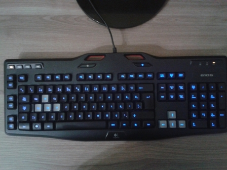how to change colors on the logitect g105