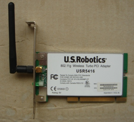 Us robotics wireless turbo pci adapter