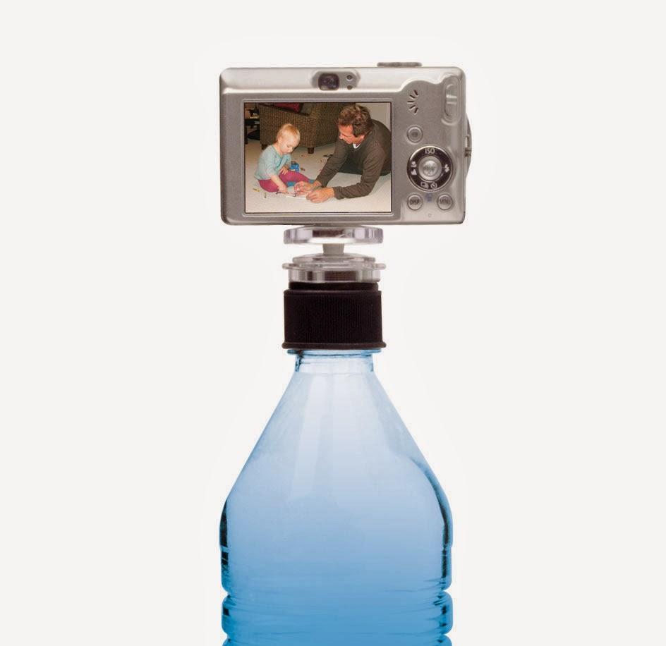 şişe üstünde tripod
