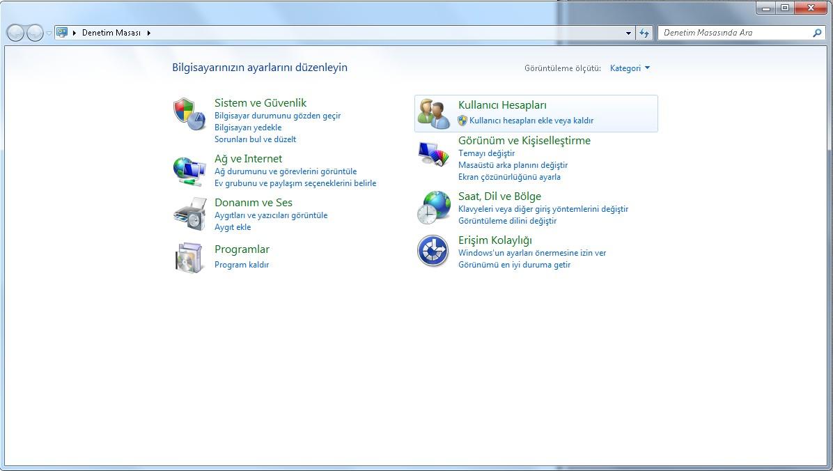 Windows 7 ebeveyn denetimi yükle